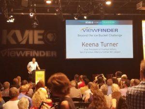 San Francisco 49er Vice President Keena Turner speaks to large audience at KVIE Studios