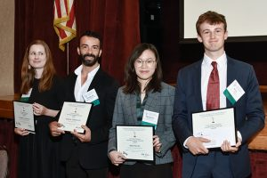 photo of 2019 schola2019 scholarship recipients: Valeriia Lanshakova, Marcos Vedovetto, Meiying Wu, Max Brimelow
