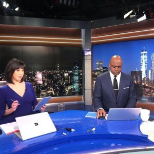 Kaity Tong on WPIX set