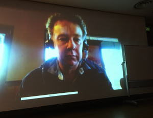 Josh Mackie,Ph.D., broadcast from Australia via Zoom