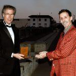 Steve Shlisky Awarding the Governors' Medallion to Mike Moya