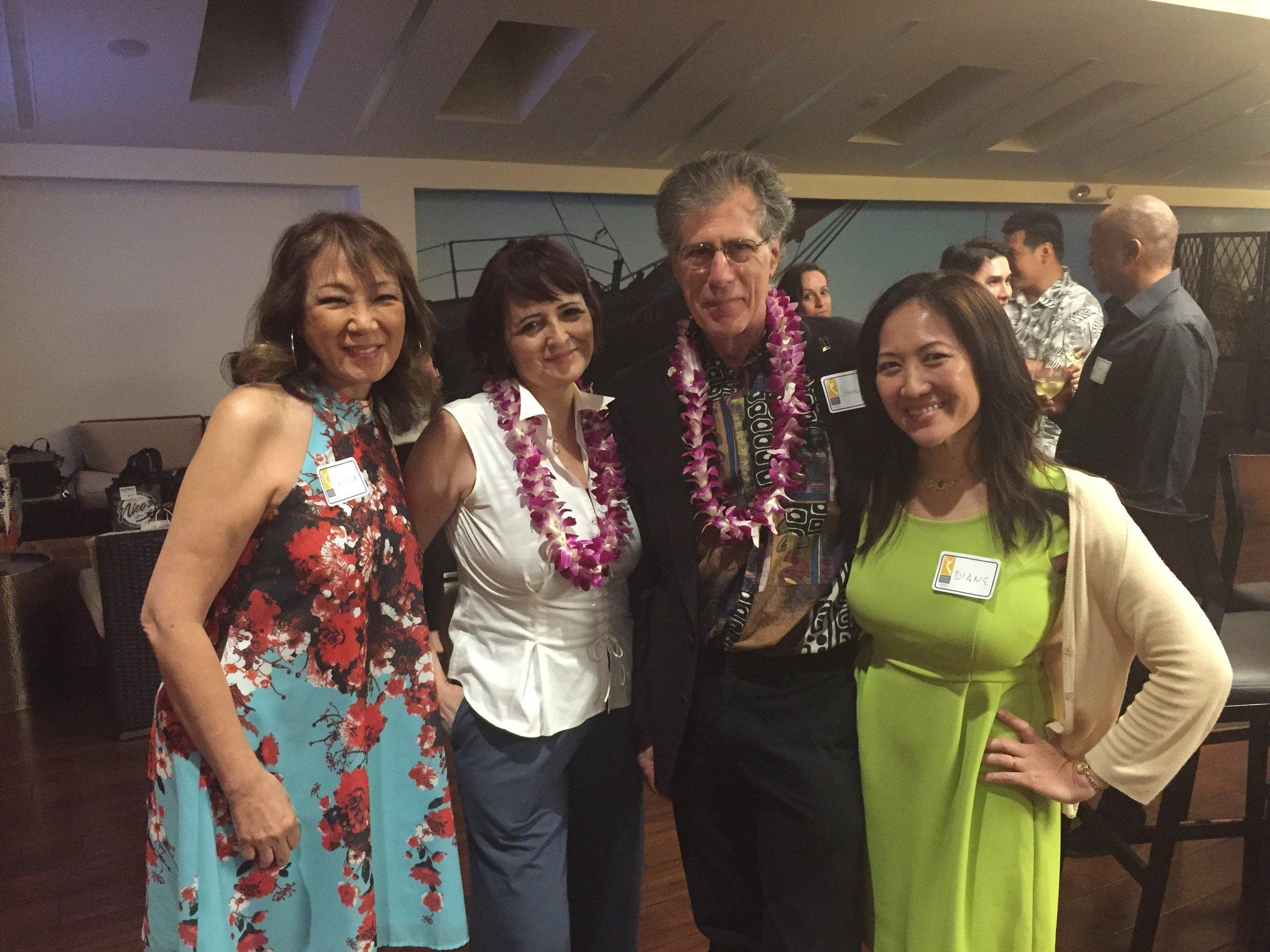 Pamela Young, Patty Zubov, Steve Shlisky, Diane Ako at Hawaii Member Mixer